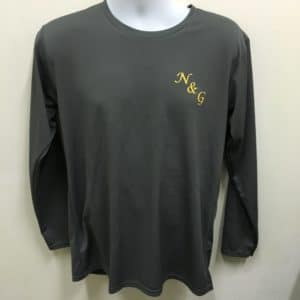 NG Transport Services - Charcoal Long-sleeves Dri-Fit T-Shirts (Front View)