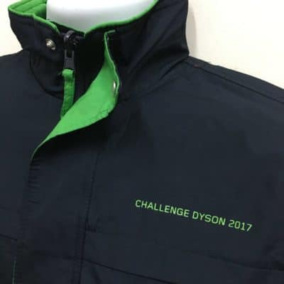 Dyson Operations Pte Ltd - Navy Green WR01 Reversible windbreaker (Front Left Chest View)