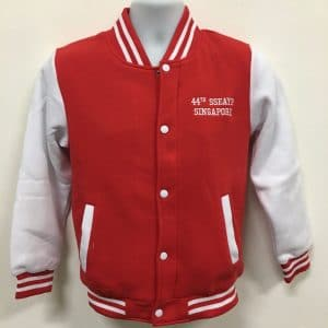 44th SSEAYP - Red Varsity Jacket (Front View)