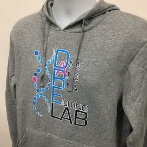 DARE Grey basic pullover hoodies (front angled view)