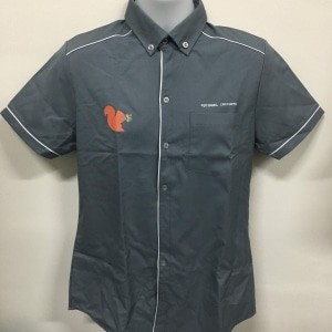 Squirrel Insights - NHB1700 Charcoal Shirt (Front view)