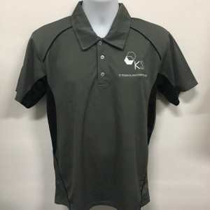 KS Technical - CRP1300 Charcoal Polo T-Shirt (Front view)